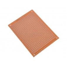 Placa perforada de 5x7 cm  con contactos de cobre